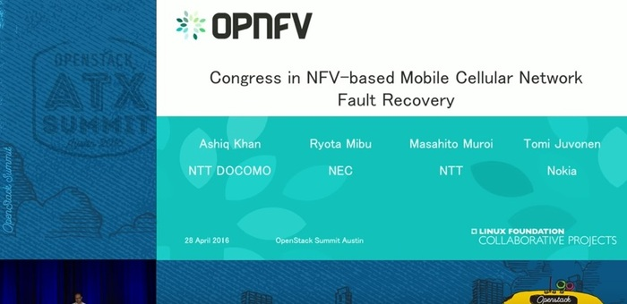 Congress in NFV-based Mobile Cellular Network Fault Recoveryセッション画像