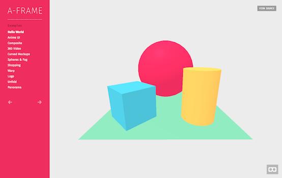 A-Frameサンプル画面