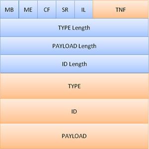図.2-2 NDEF Recordの構造
