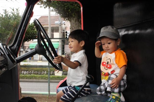 子供たちの運転