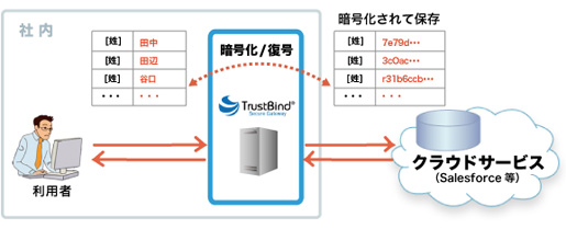 TrustBind/Secure Gateway 利用イメージ
