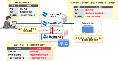 「TrustBind/Tokenization」の仕組み